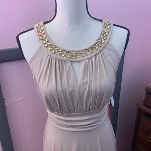 NWT Gold Sparkly Long Gown